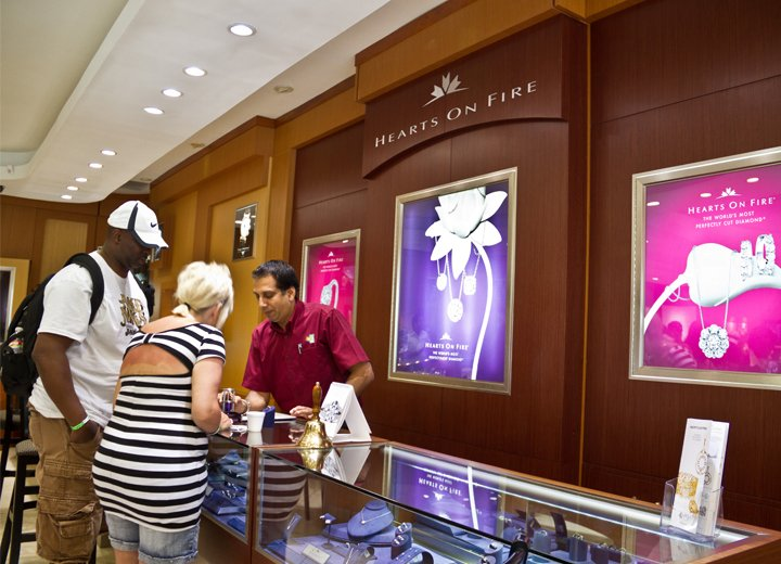 Inside Rose Hall Store - Hearts On Fire Diamonds section