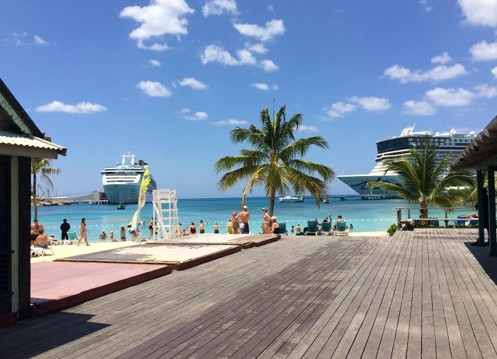 View from outside Ocho Rios store