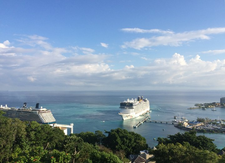 Cruise-Ships-docked-at-the-Ocho-Rios-Pier-