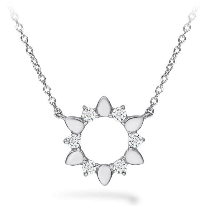 Necklace - Aerial Eclipse Mini Pendant with 0.15 ctw. Hearts On Fire Diamonds in 18K White Gold 2