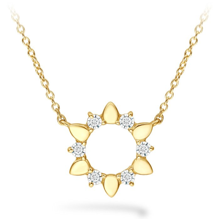 Necklace - Aerial Eclipse Mini Pendant with 0.15 ctw. Hearts On Fire Diamonds in 18K Yellow Gold 2