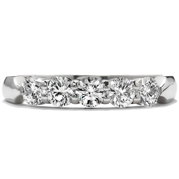 Ring - Five-Stone Wedding Band 1.00 ctw. Hearts On Fire Diamonds in 18K White Gold 2