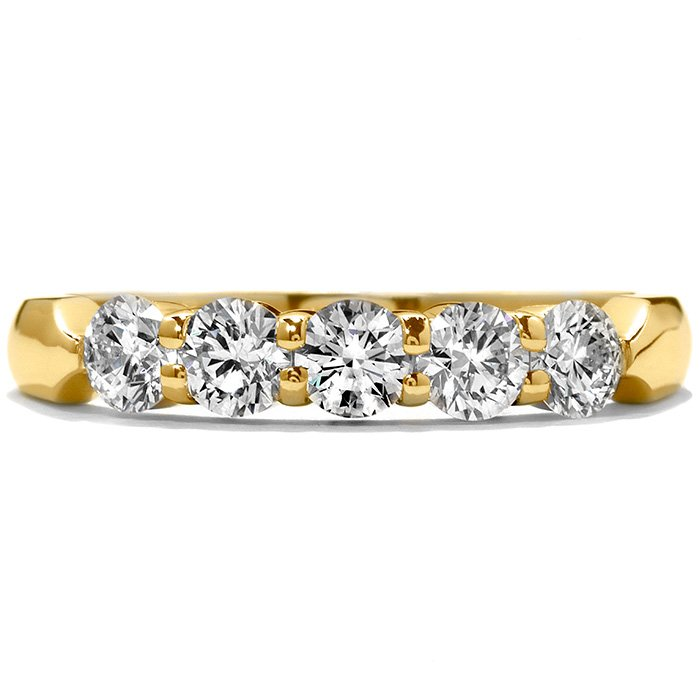 Ring - Five-Stone Wedding Band 0.50 ctw. Hearts On Fire Diamonds in 18K Yellow Gold 2