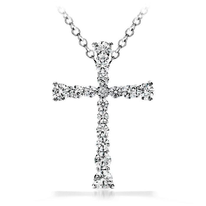 Pendant - Divine Journey Cross 0.25 ctw. Hearts On Fire Diamonds in 18K White Gold 2