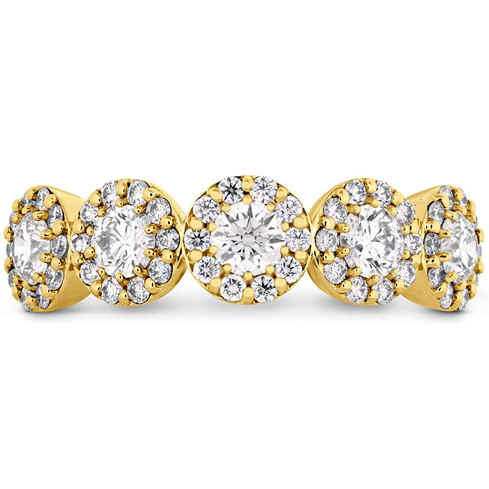 Ring - Fulfillment Round Band 0.85 ctw. Hearts On Fire Diamonds in 18K Yellow Gold 2
