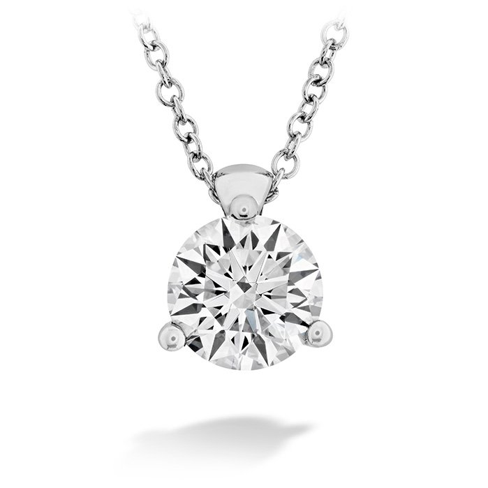Pendant - Classic 3 Prong Solitaire 0.33 ctw. Hearts On Fire Diamond in 18K White Gold 2