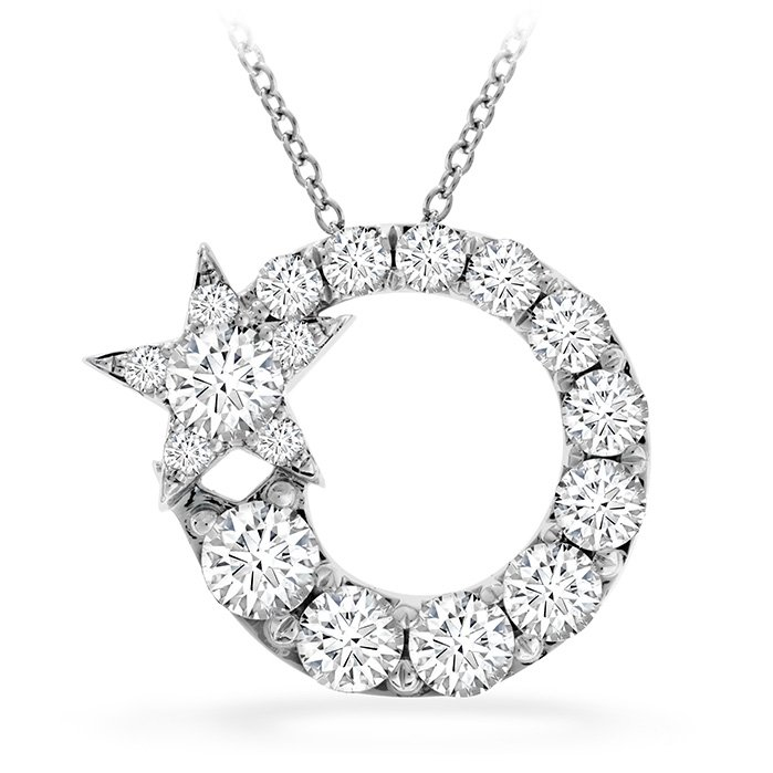 Pendant - Illa Circle Cluster 0.90 ctw. Hearts On Fire Diamonds in 18K White Gold 2