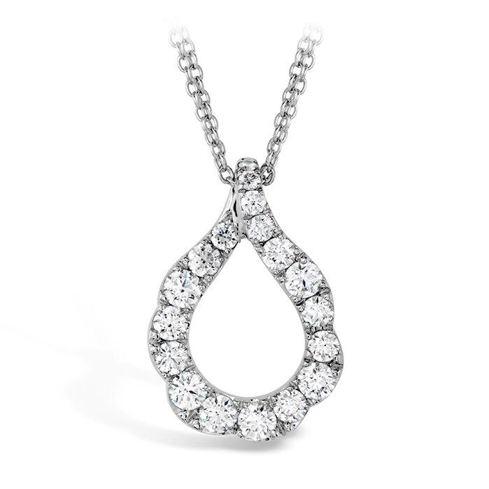 Pendant - Lorelei Crescent 1.00 ctw. Hearts On Fire Diamonds in 18K White Gold 2