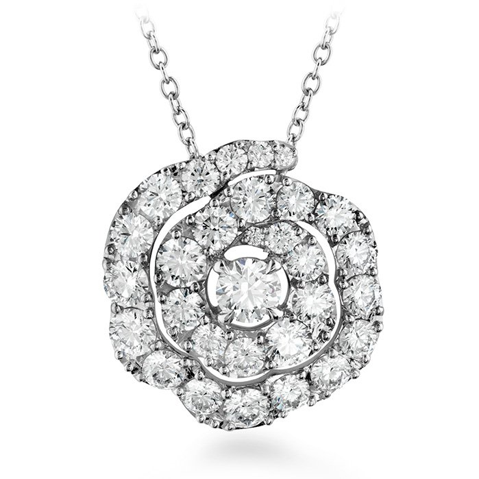 Pendant - Lorelei Floral 1.00 ctw. Hearts On Fire Diamonds in 18K White Gold 2