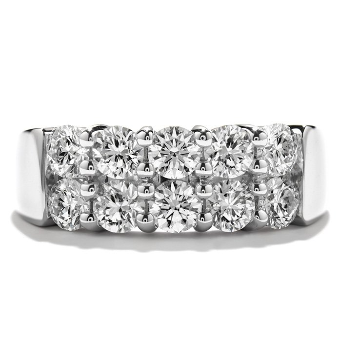 Ring - Enchantment Right Hand Ring 1.50 ctw. Hearts On Fire Diamonds in 18K White Gold 2