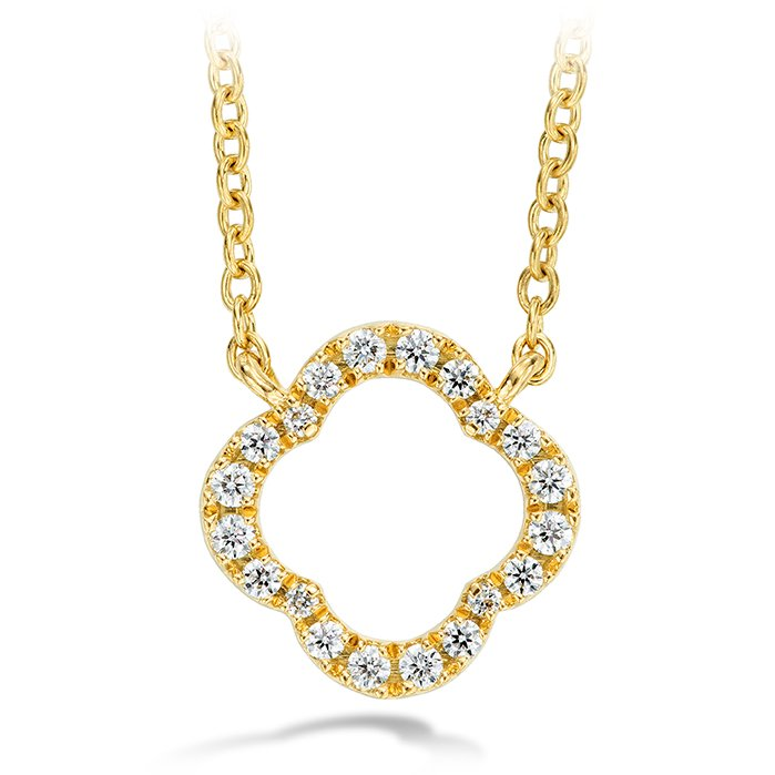 Necklace - Signature Petal Pendant with 0.10 ctw. Hearts On Fire Diamonds in 18K Yellow Gold 2