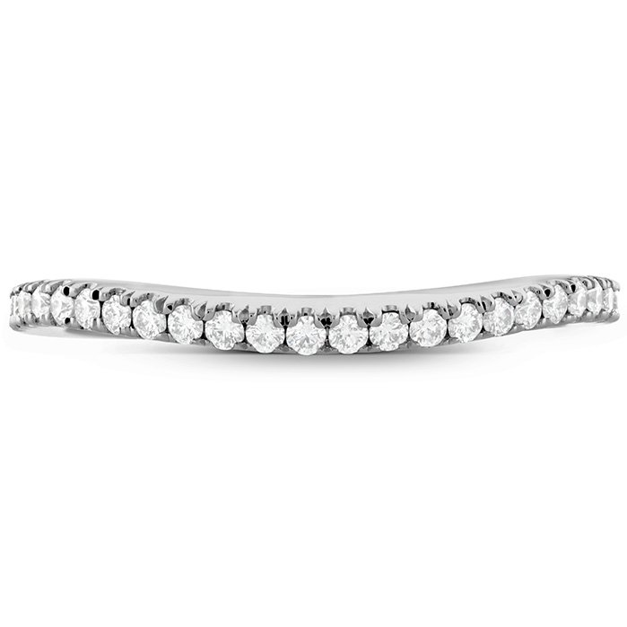 Ring - Transcend Premier Curved Band 0.18 ctw. Hearts On Fire Diamonds in 18K White Gold 2