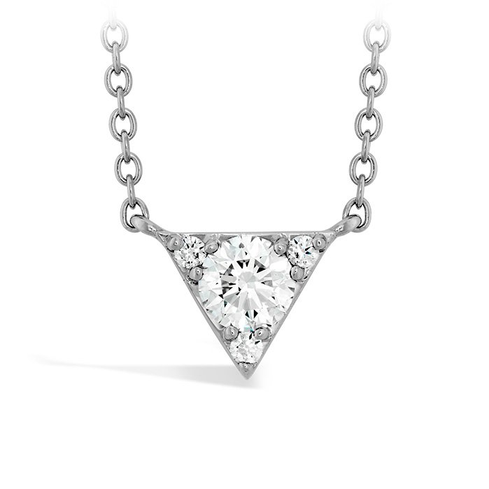 Necklace - Triplicity Triangle Pendant 0.28 ctw. Hearts On Fire Diamonds in 18K Yellow Gold 2