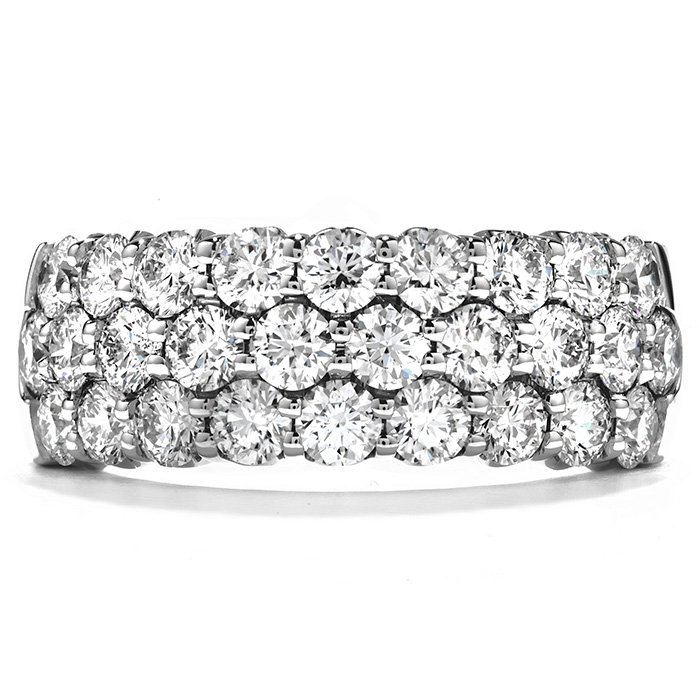 Ring - Truly Triple Row Right Hand Ring 1.10 ctw. Hearts On Fire Diamonds in 18K White Gold 2
