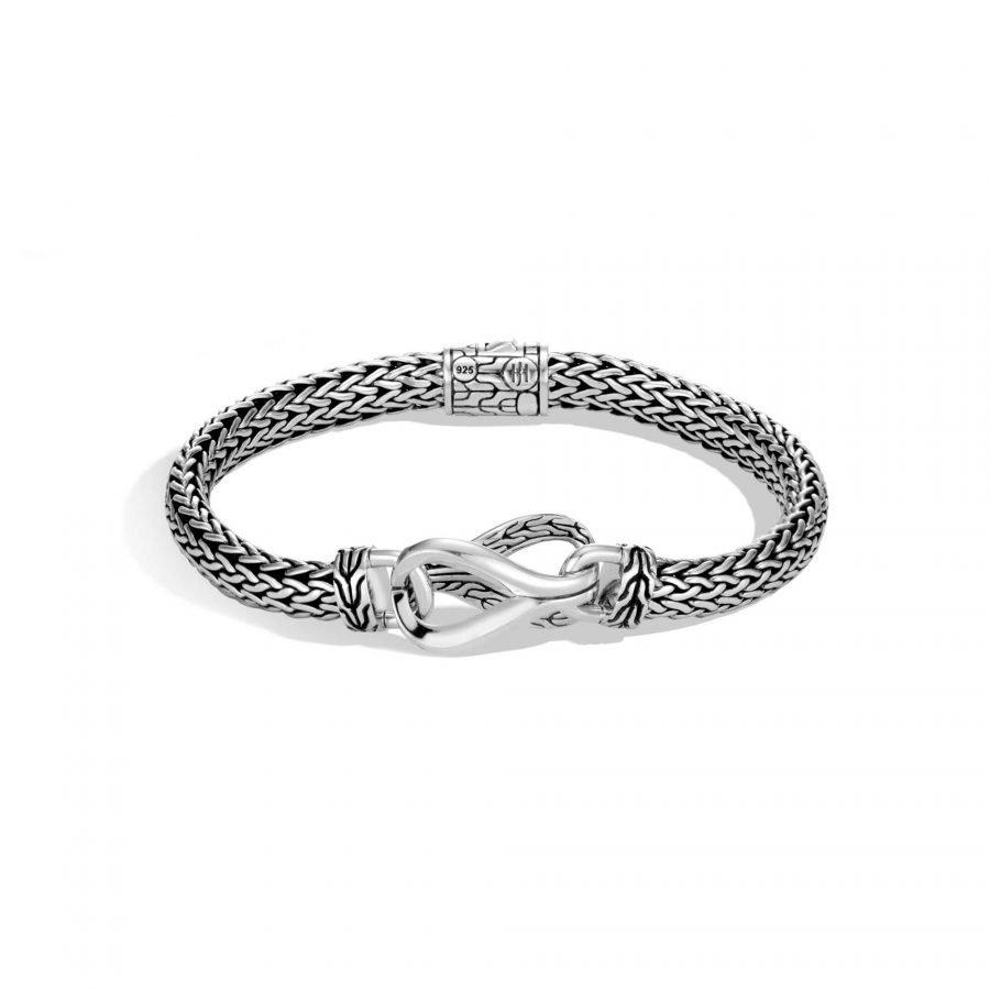 Asli Classic Chain Link Station Bracelet in Silver - Medium 2