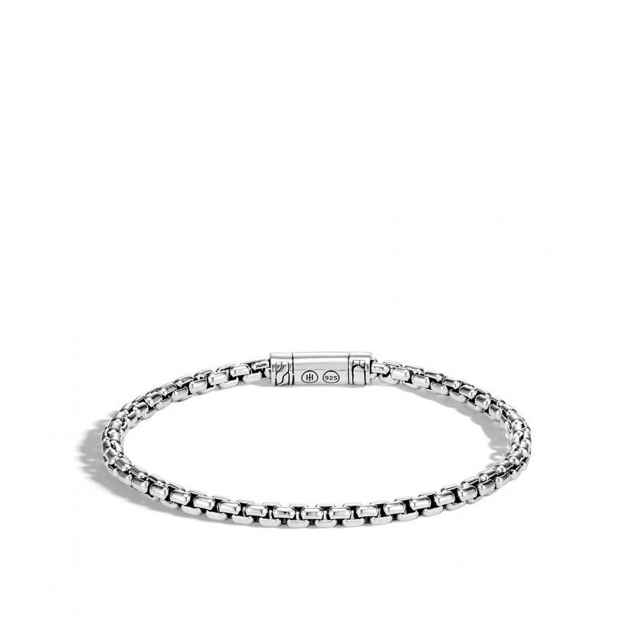 Classic Chain 4MM Box Chain Bracelet in Silver 2