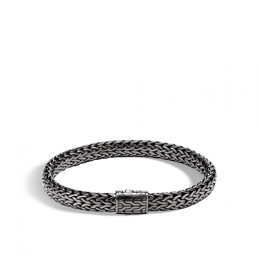 Classic Chain 7.5MM Bracelet in Blackened Silver - Large 2