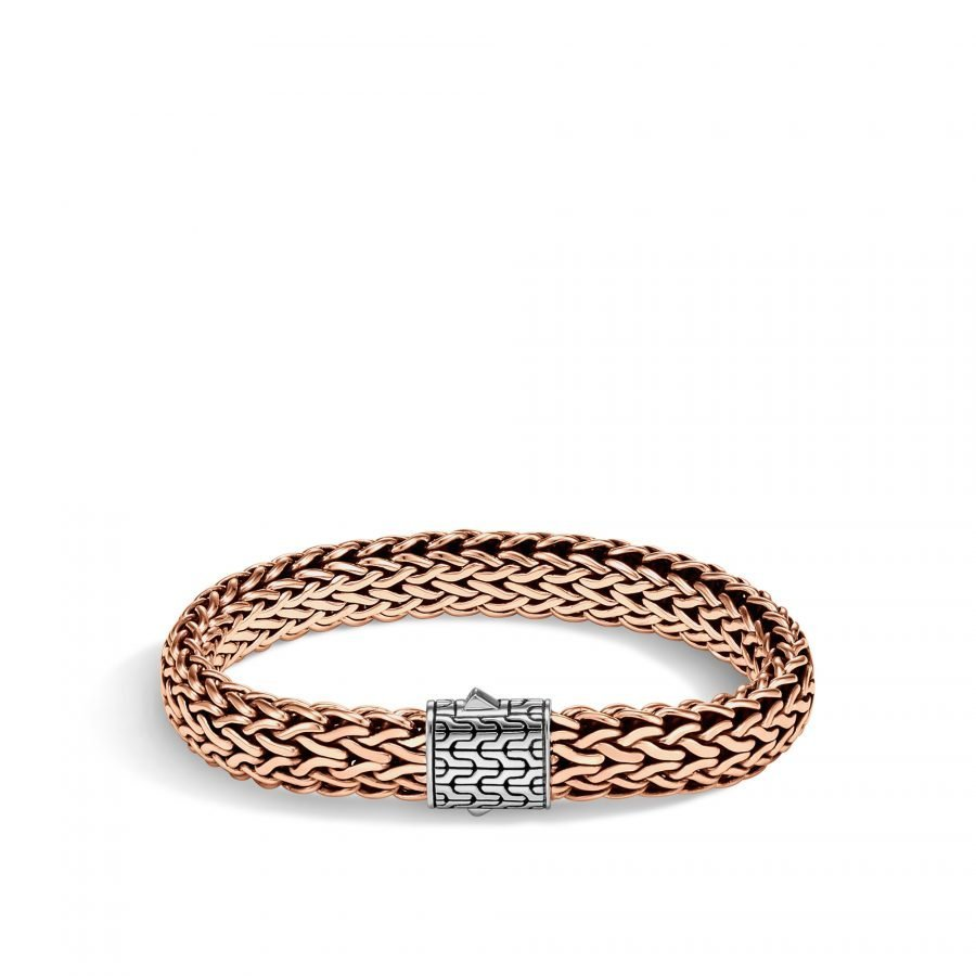 Classic Chain 11MM Bracelet in Silver and Bronze - Medium 2