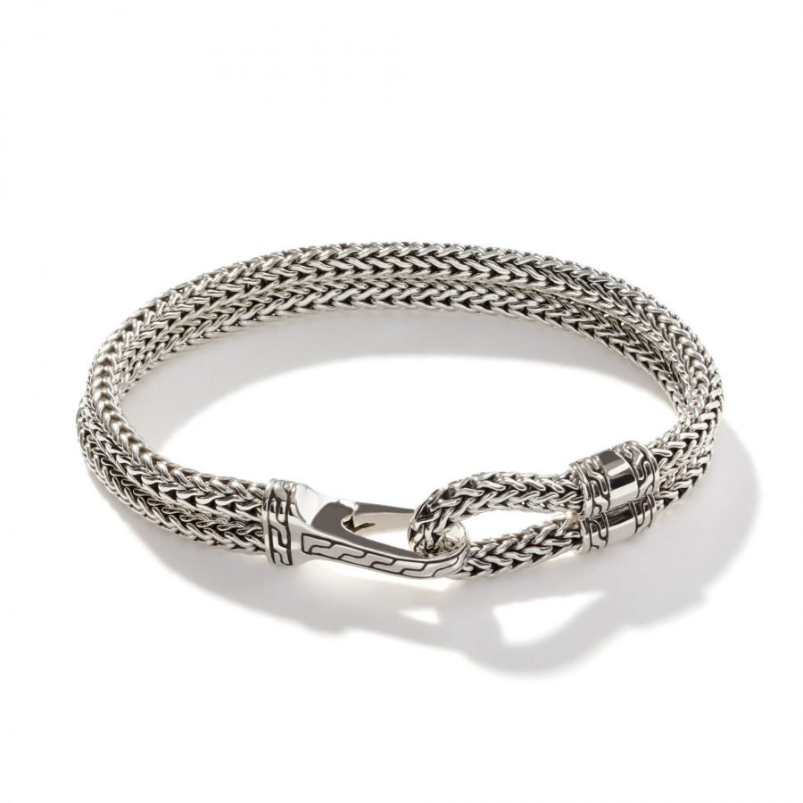 Classic Chain Hook Clasp Bracelet in Silver 2