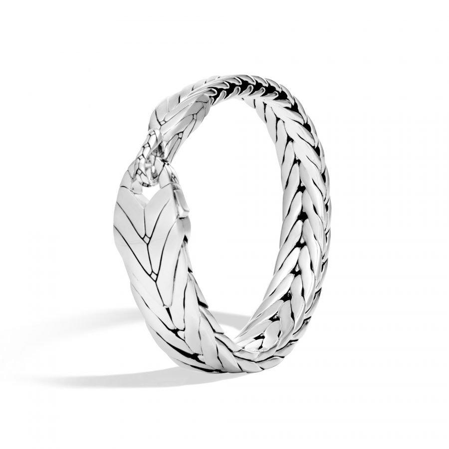 Modern Chain Bracelet in Silver - Medium 2