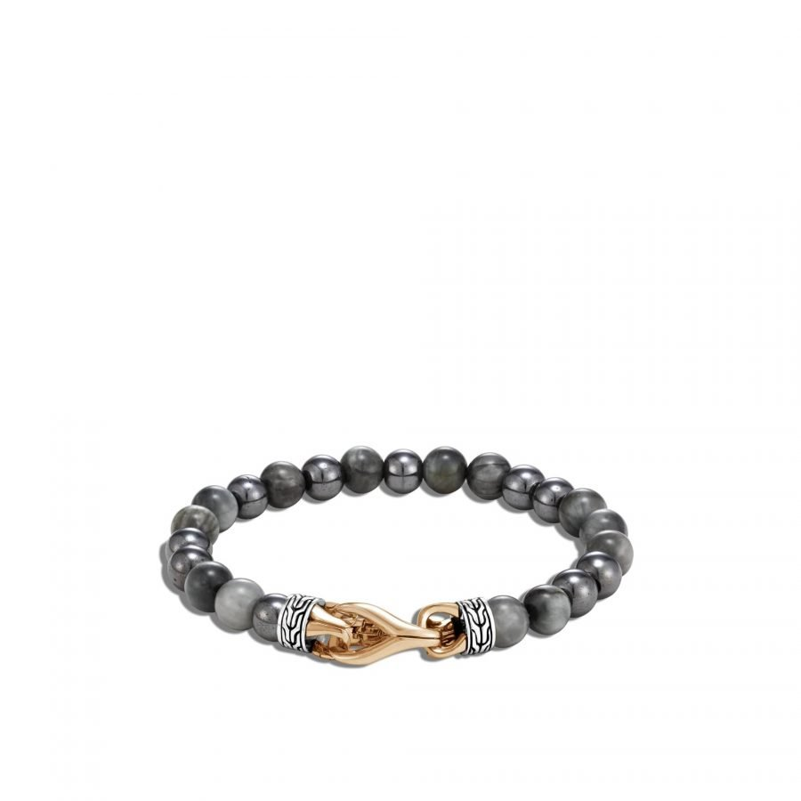 Asli Classic Chain Link Bead Bracelet in Silver & Bronze with Eagle Eye 2