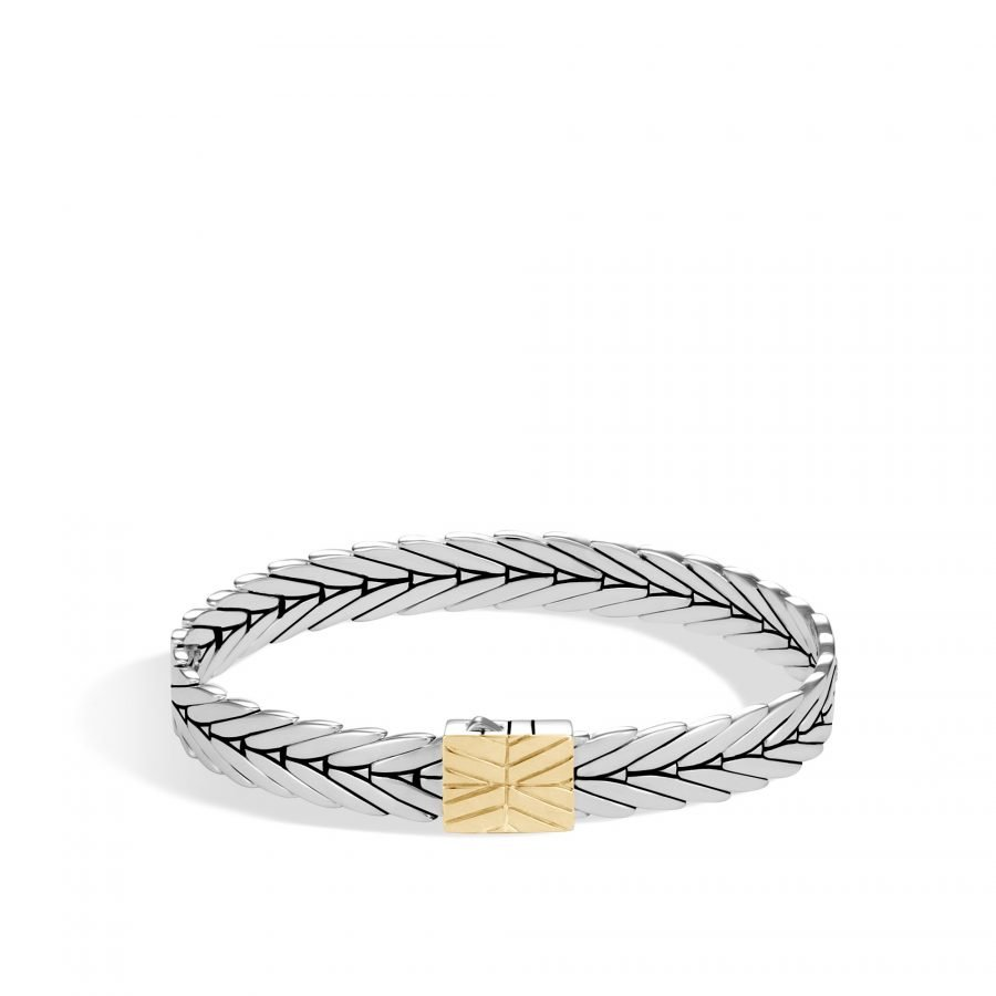 Modern Chain 8MM Bracelet in Silver and 18K Gold 2