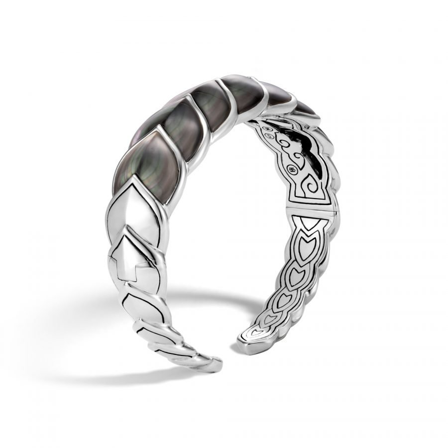 Legends Naga 18.5MM Flex Cuff in Silver with Grey Mother of Pearl 2