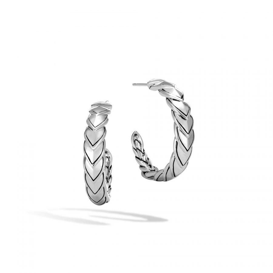 Naga Small Hoop Earring in Silver 2