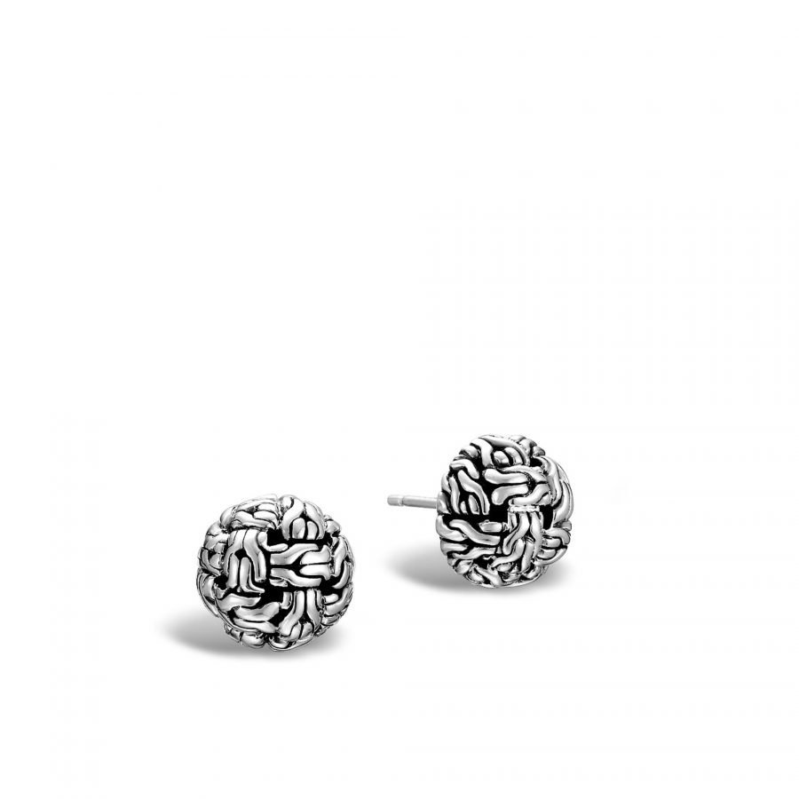 Classic Chain 12MM Stud Earring in Silver 2