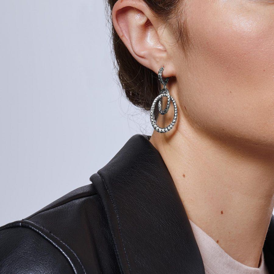 Classic Chain Drop Earring in Silver 2