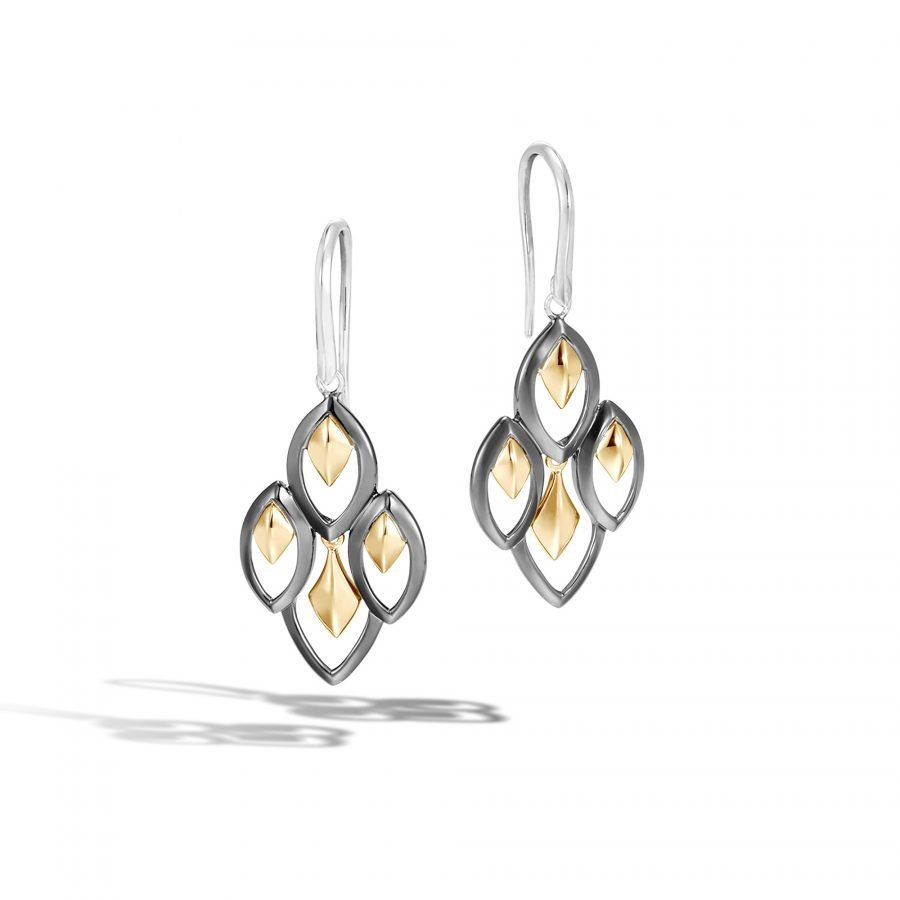 Legends Naga Drop Earring in Silver and 18K Gold 2