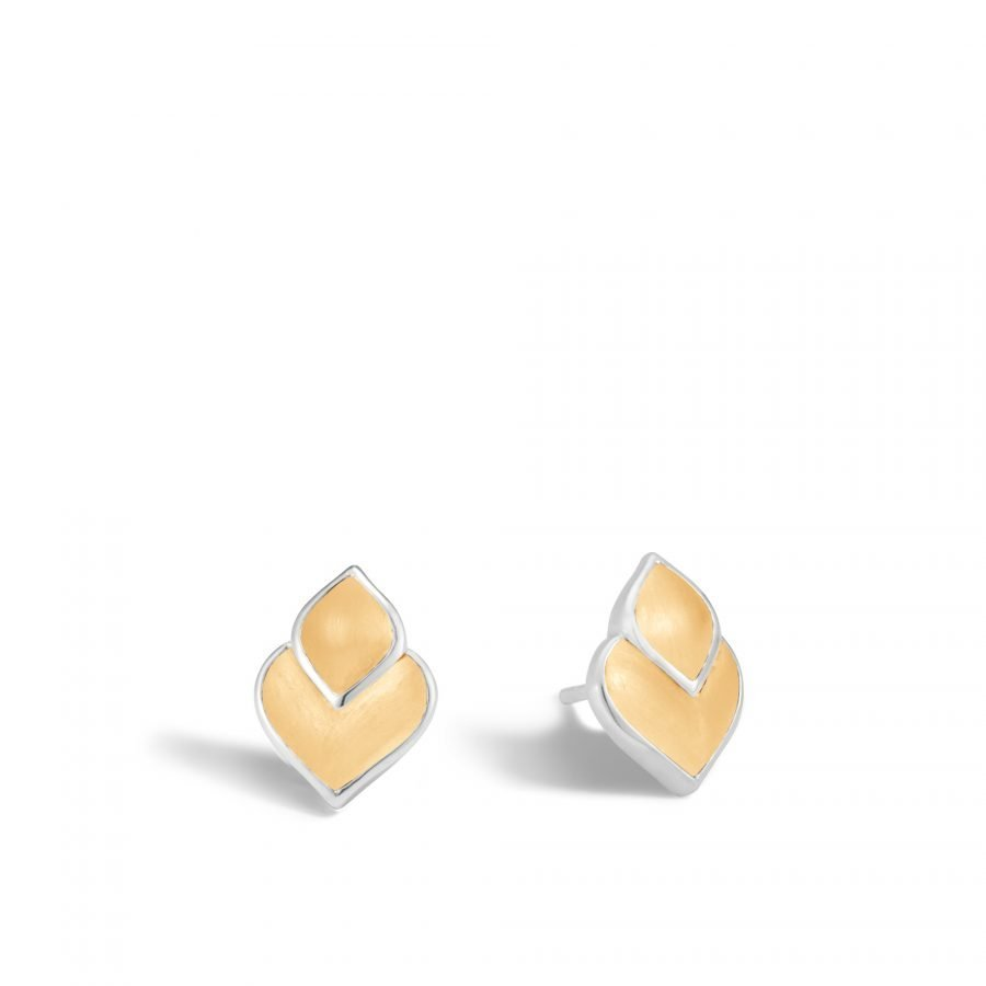 Legends Naga 13x9.5MM Stud Earring in Silver and 18K Gold 2