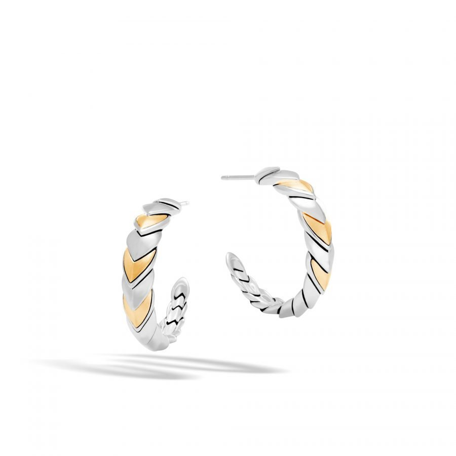 Legends Naga Small Hoop Earring in Silver and 18K Gold 2