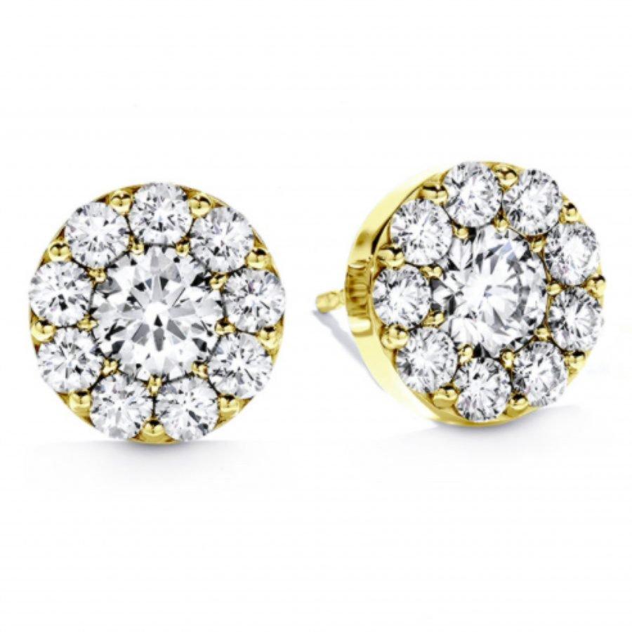 Earrings - Fulfillment studs 0.50 ctw Hearts On Fire Diamonds in 18K Yellow Gold 2