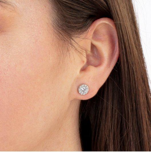 Earrings - Fulfillment studs 1.00 ctw Hearts On Fire Diamonds in 18K White Gold 2