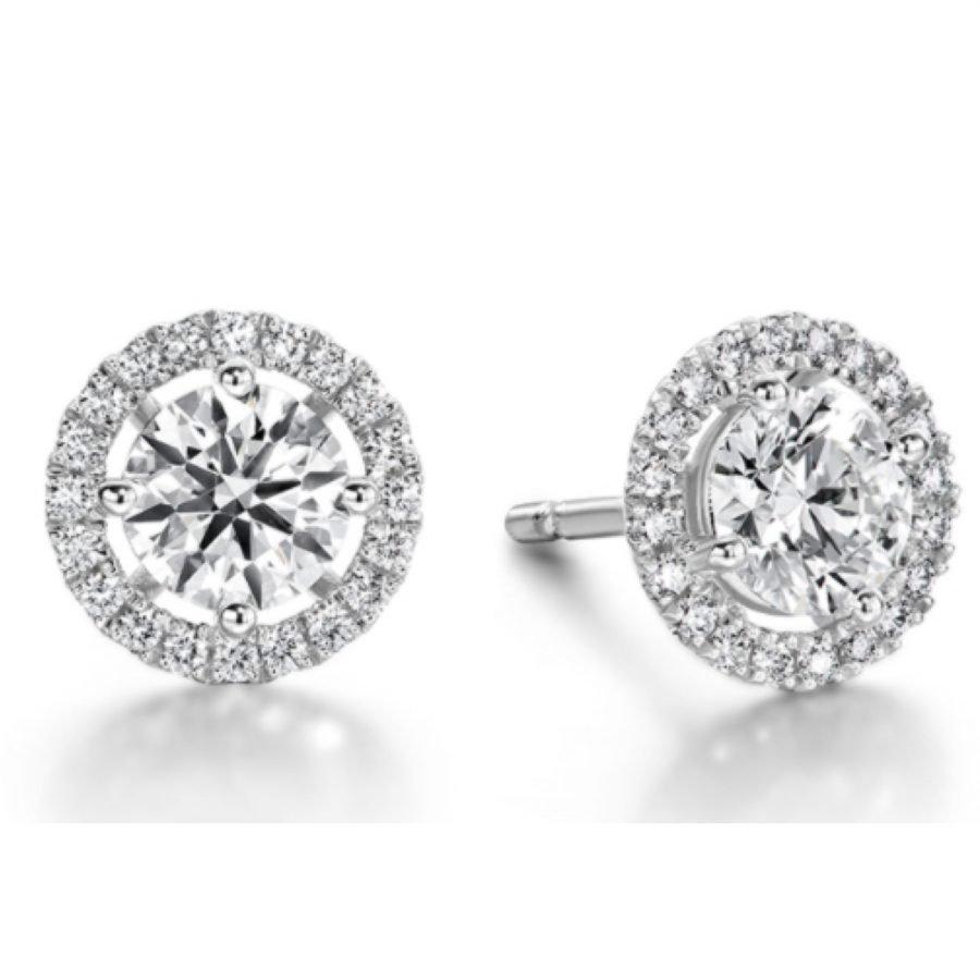 Earrings - Joy 0.31 ctw Hearts On Fire Diamonds in 18K White Gold 2