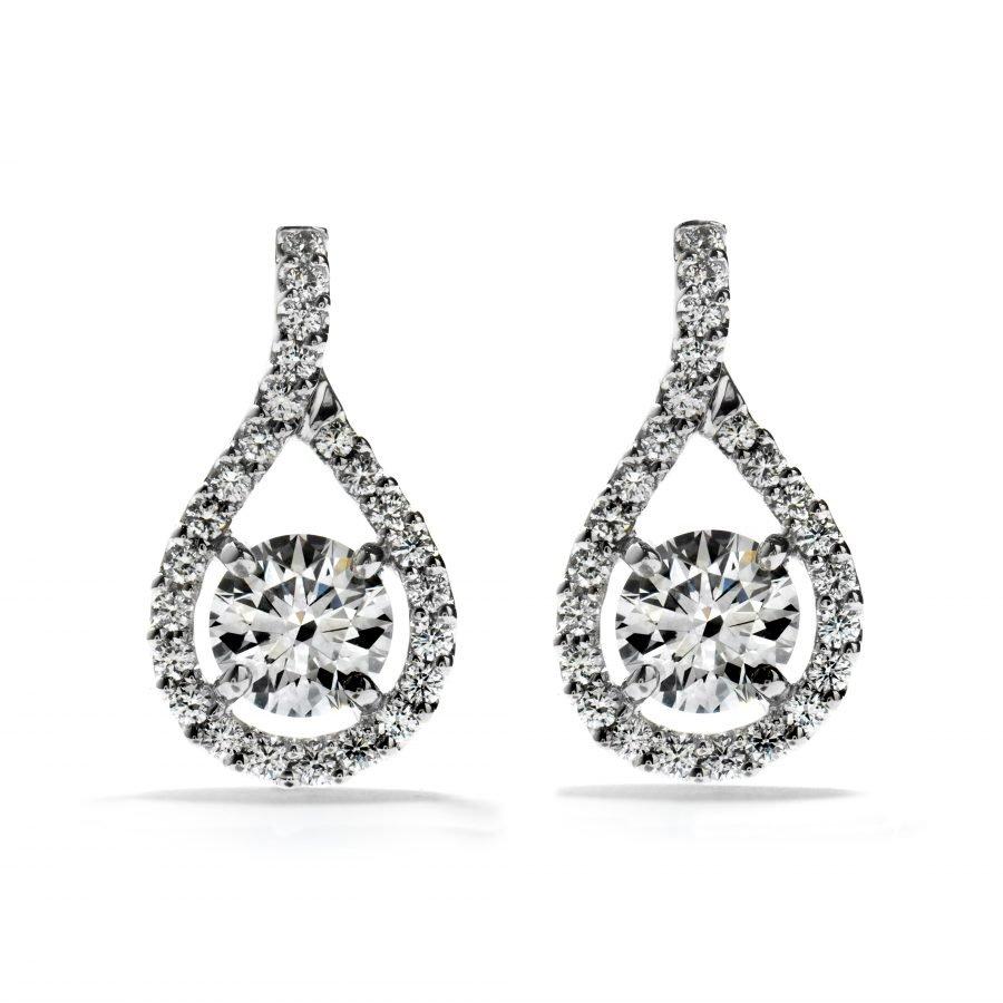 Earrings - Repertoire 0.765 ctw Hearts On Fire Diamonds in 18K White Gold 2