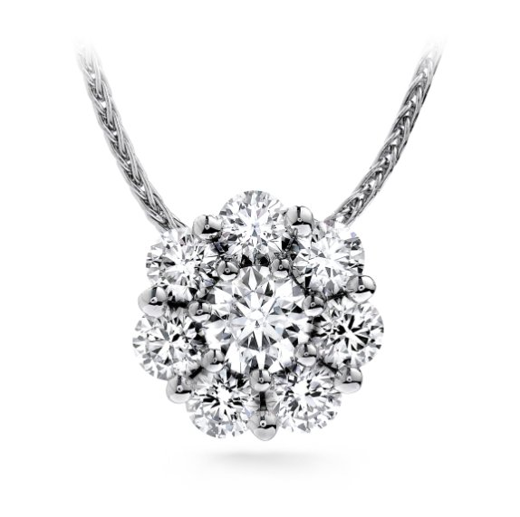 Pendant - Beloved 0.54 ctw Hearts On Fire Diamonds in 18kt White Gold 2