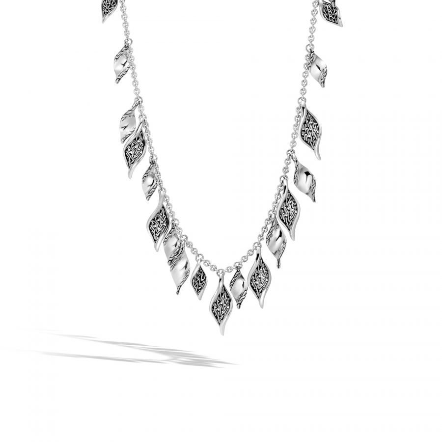 Classic Chain Wave Necklace in Silver 2