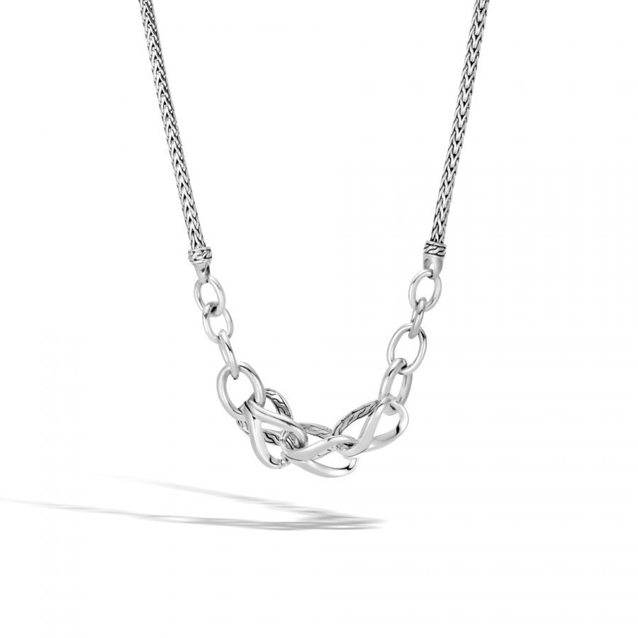 Asli Classic Chain Link Necklace in Silver 2