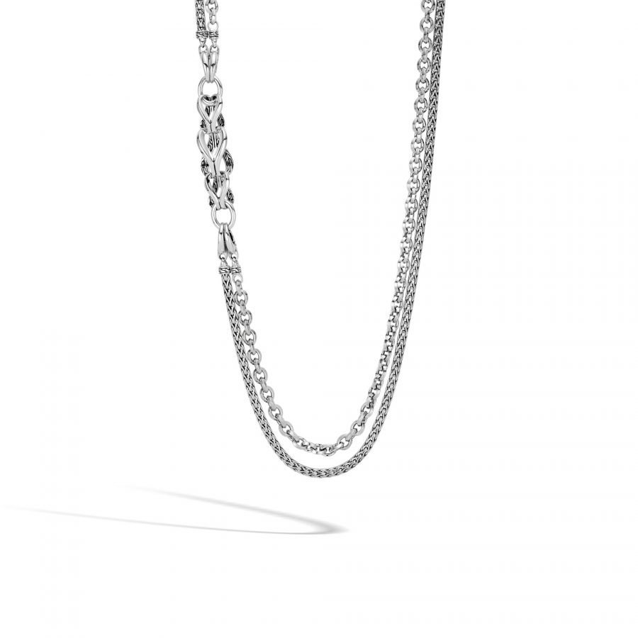 Asli Classic Chain Link Long Necklace in Silver 2