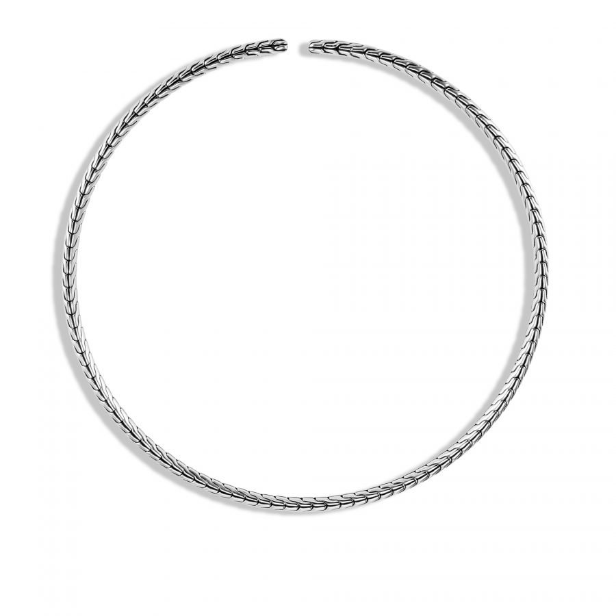 Classic Chain Choker Necklace in Silver 2