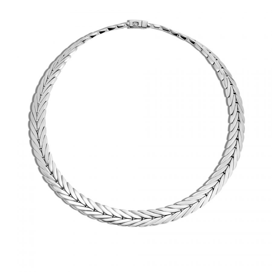 Modern Chain 11MM Necklace in Silver 2