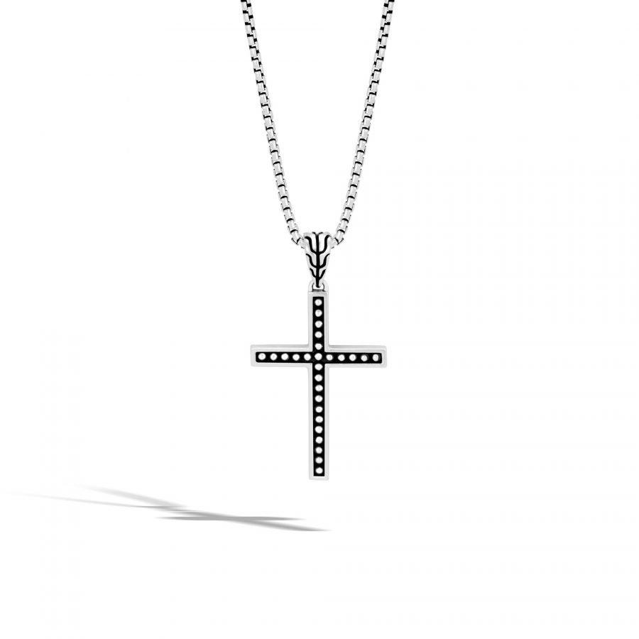 Chain Jawan Cross Pendant in Silver 2