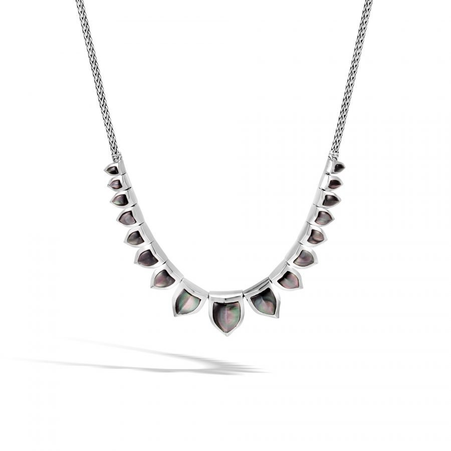 Legends Naga Necklace in Silver with Grey Mother of Pearl 2