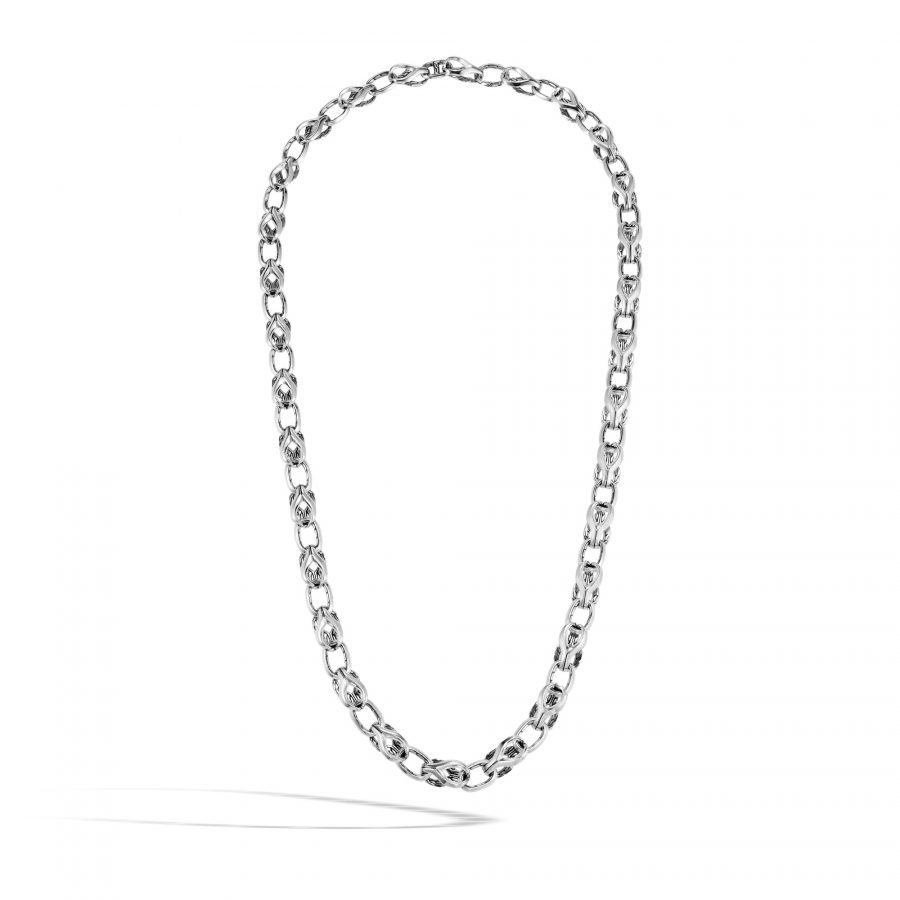Asli Classic Chain Link 9MM Necklace in Silver 2