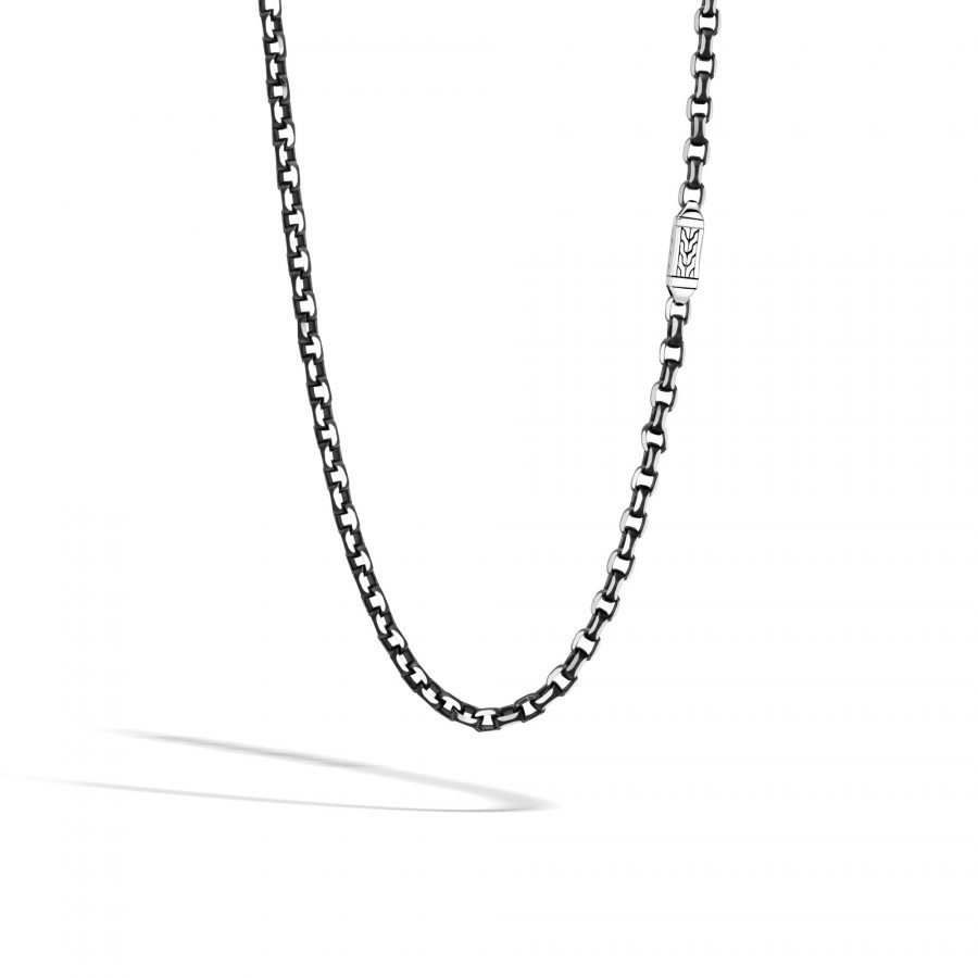 Classic Chain 5.6MM Box Chain in Silver with Blacked Silver 2