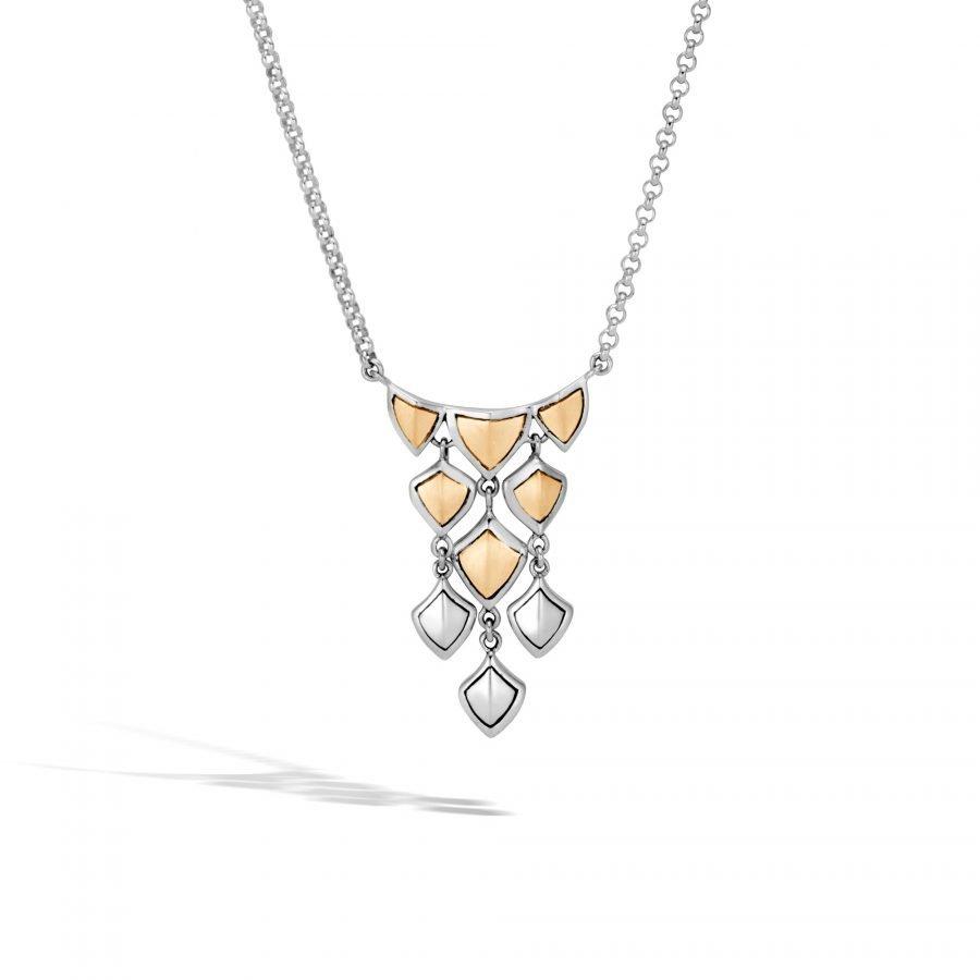 Legends Naga Necklace in Silver and Brushed 18K Gold 2