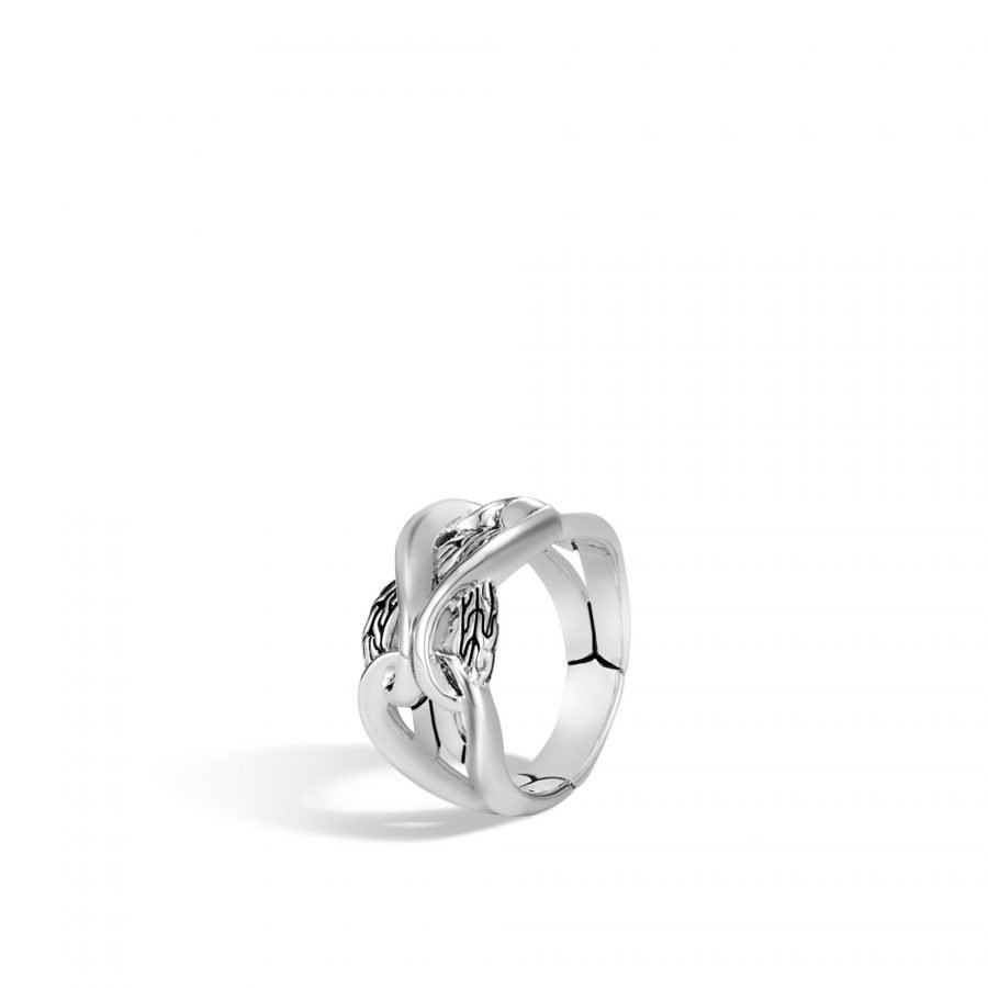 Asli Classic Chain Link 13.5MM Band Ring in Silver - Size 7 2