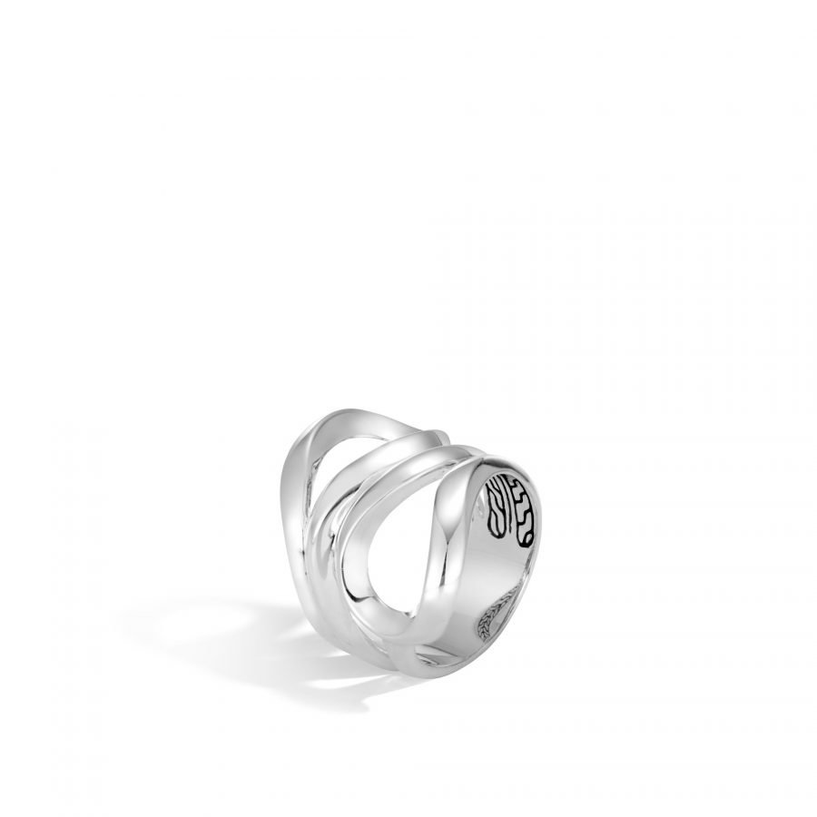 Asli Classic Chain Link Ring in Silver - Size 7 2